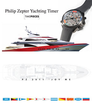 Elegant, sporty design meets uncompromising craftsmanship. Philip Zepter Yachting Timer is your reliable companion through life's challenges.
