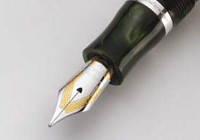 The exclusive nib is fashioned in 18ct gold with an iridium tip
